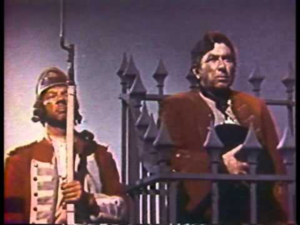 Picture of Long John Silver scene from Movie